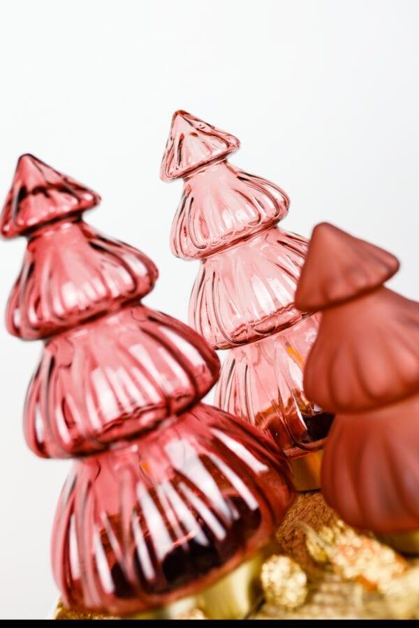 Tischleuchte LED TREE Glas burgund, matt