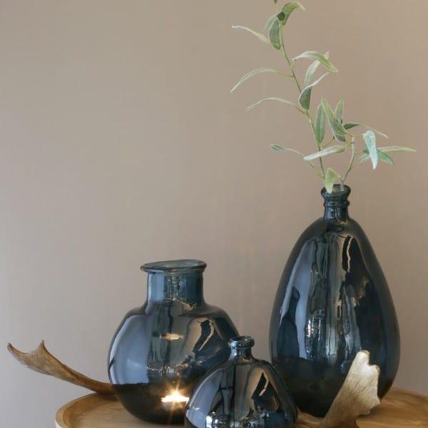 Bodenvase aus für Pampasgras blau Light&Living - Vase Ø 26x47cm GIORGIO dunkel blau Selection by Annhild Ellwanger 1