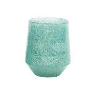 Glas Vase DUTZ Windlicht NITA Türkis H22 D18 cm