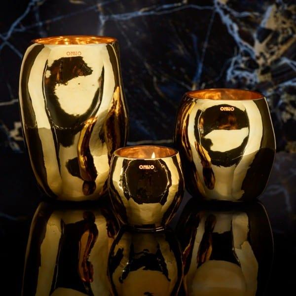 ONNO Collection Duftkerze Cape Shine Gold Muse M 19x14cm