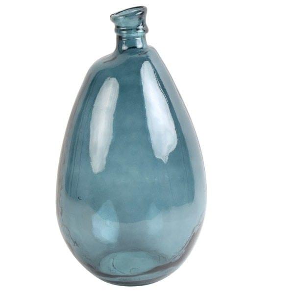 Bodenvase Glas blau für Pampasgras Vase D 26x47cm GIORGIO