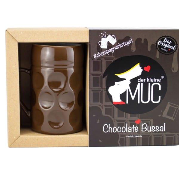 Champagner Krug -Der kleine MUC, Chocolate Bussal, Tasse Becher kleiner Maßkrug Kaffee Kakao Selection by Annhild Ellwanger