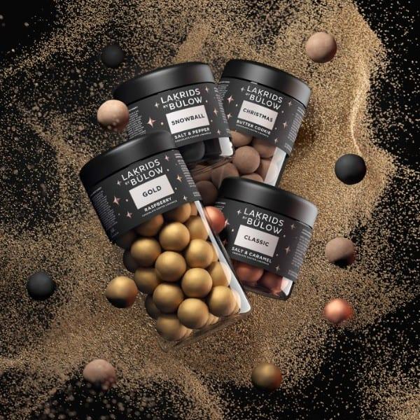 LAKRIDS BY BÜLOW – BLACK BOX REG/REG (CLASSIC/GOLD) - LAKRITZ CHOCOLATE COATED LIQUORICE