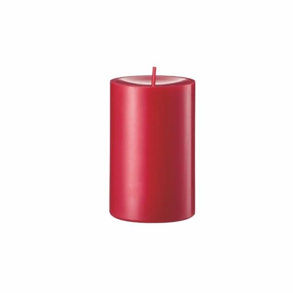 Kerze rot Stumpenkerze D8 H12 cm Zinnoberrot