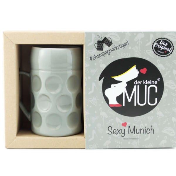 Champagner Krug -Der kleine MUC- Sexy Munich, Tasse Becher kleiner Maßkrug Kaffee Kakao Selection by Annhild Ellwanger