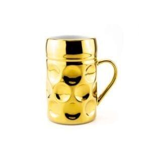 Champagner Krug -Der kleine MUC- Golden Hops, Tasse Becher kleiner Maßkrug gold Kaffee Kakao Selection by Annhild Ellwanger