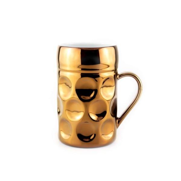 Champagner Krug - Der kleine MUC - Wiesn Diva, Tasse Becher rosegold kleiner Maßkrug Kaffee Kakao Selection by Annhild Ellwanger