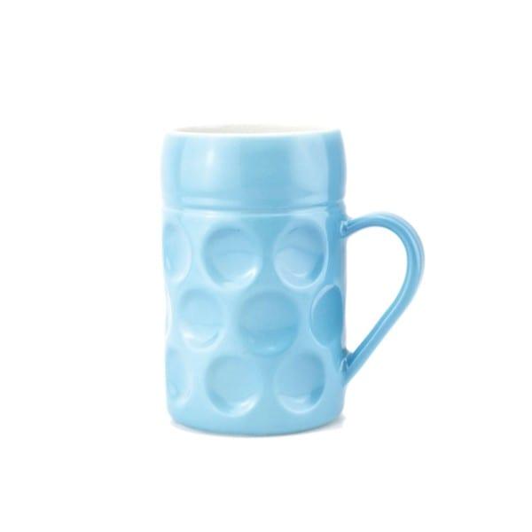 Champagner Krug - Der kleine MUC - Bavarian Blue Sky, Tasse Becher blau kleiner Maßkrug Kaffee Kakao Selection by Annhild Ellwanger