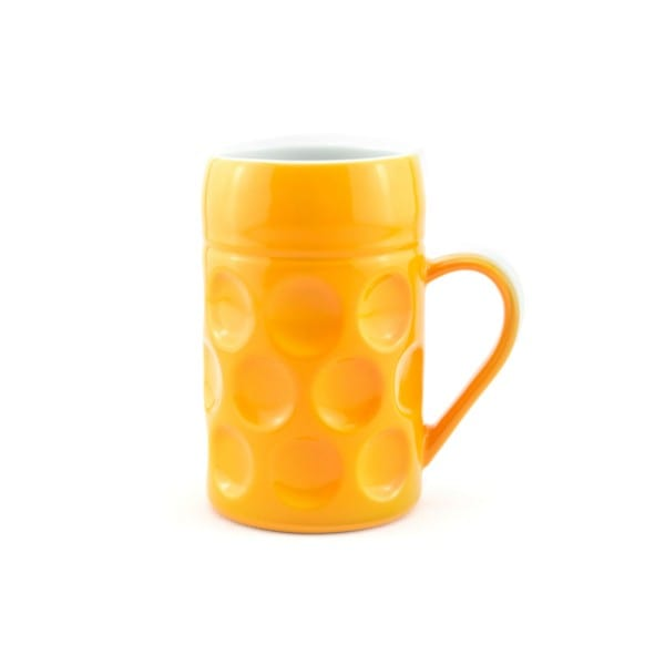 Champagner Krug - Der kleine MUC- Bavarian Bee, Tasse Becher gelb kleiner Maßkrug Kaffee Kakao Selection by Annhild Ellwanger