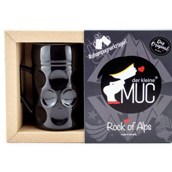 Champagner Krug -Der kleine MUC, Rock of Alps, Tasse Becher kleiner Maßkrug Kaffee Kakao Selection by Annhild Ellwanger