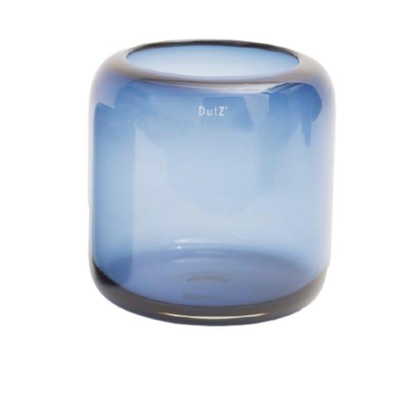 Glas Vase DUTZ MAZURKA Nightblue mundgeblasen Blau H26 D26 cm