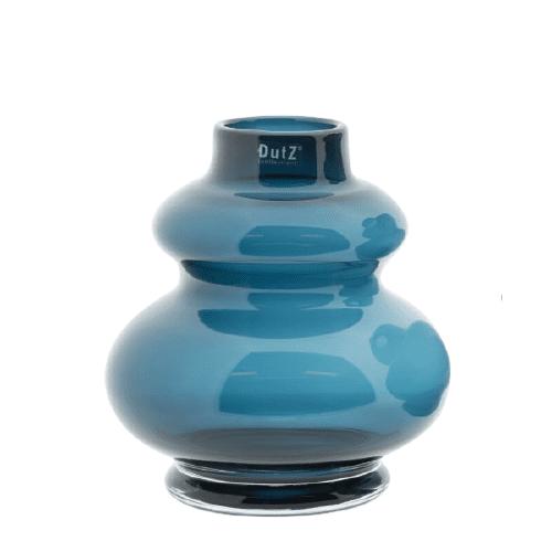 DUTZ Glas Vase Windlicht SKRZYSZOW mundgeblasen nacht blau H25 D23 cm Selection by Annhild Ellwanger