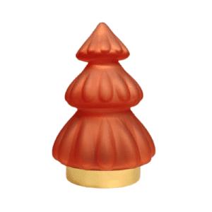Tischleuchte Weihnachtsbaum/ 18 cm/ LED Glas burgund, matt TREE Baum Tanne Weihnachtsdekoration Tisch