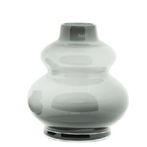 DUTZ Glas Vase Windlicht SKRZYSZOW mundgeblasen smoke rauchgrau H25 D23 cm Selection by Annhild Ellwanger