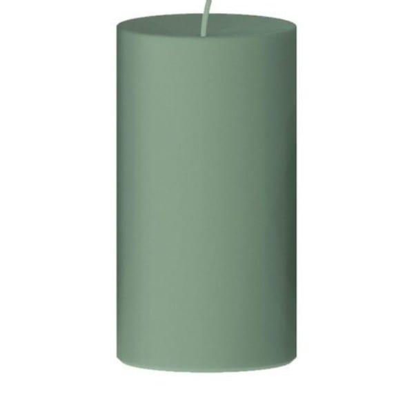 Kerze grün Stumpenkerze D8 H12 cm - Engels Kerzenmanufaktur Paraffin Linde