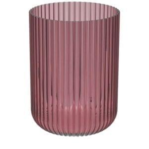 Windlicht Amelie Glas Erika geriffelt D15,5 H18 cm Kerze