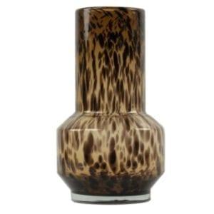 Vase Windlicht Simba Leopard Glas braun L L35 x 20 cm groß Bombyxx