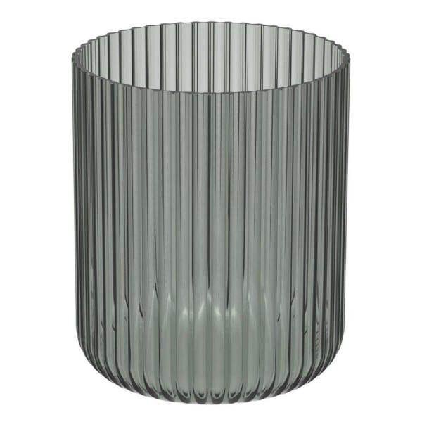 Windlicht Amelie Glas grau geriffelt D15,5 18 cm Engels Kerzenmanufaktur