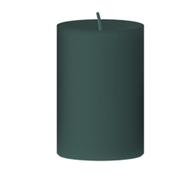 Kerze grün Stumpenkerze D8 H12 cm Eukaliptus